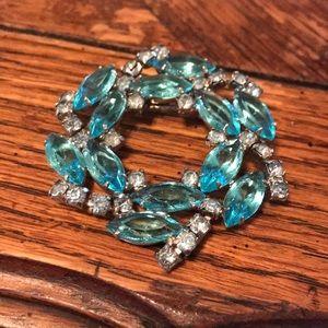 Juliana blue wreath style brooch